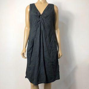 J. Jill 100% linen cotton lined sleeveless dress